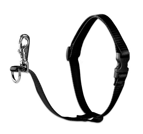 """LupinePet Basics 1"""" Black 26-38"""" No Pull Harness for Medium-Larger Dogs"""