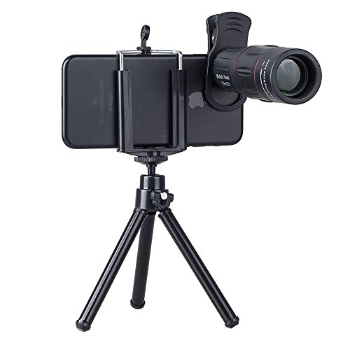 (OUYAWEI Telefon Camera Lens Universal 18X Zoom Telescope Mobile Phone Lens for iPhone Samsung with Tripod)