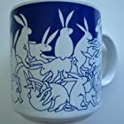 Animates 11 oz. Nitetime Rabbits Mug Color: Blue