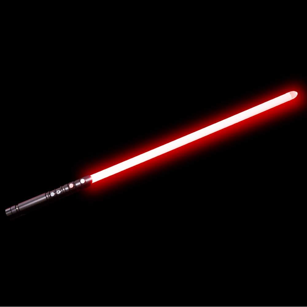 YDD Yddsaber Fx Lightsaber Toy Star Wars Saber Force Lightsaber with Sound and Light, Metal Hilt (Black hilt red Blade)