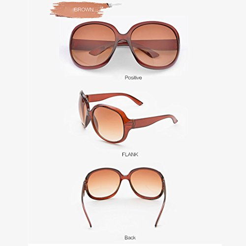 de Coreanas polarizadas de Negro Gafas Delgadas Sol Gafas Sol Gafas Color DT Marrón Femeninas RTxaqXpz