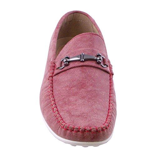 Blancho Män Tillfällig Samling Slip-on Loafer Röd