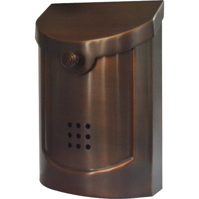Ecco E5 Wall Mounted Mailbox, Antique Copper Plated, Small
