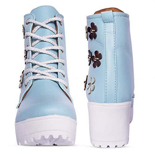 Buy YoDuggu Light Blue Women Boot (5