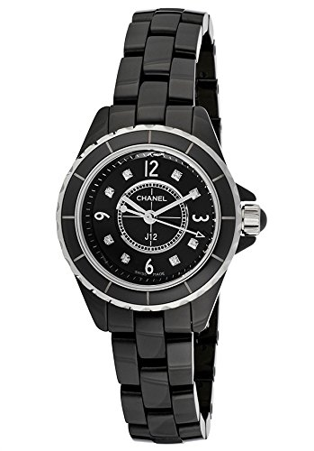 Chanel Women's J12 Black Diamond Black Dial Black Ceramic