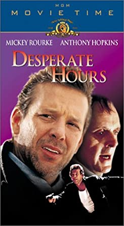 Amazon Com Desperate Hours Vhs Mickey Rourke Anthony Hopkins Mimi Rogers Lindsay Crouse Kelly Lynch Elias Koteas David Morse Shawnee Smith Danny Gerard Gerry Bamman Matt Mcgrath John Christopher Jones Dean Norris John Those shots of cars racing through the mountains are sure impressive, with the painted skies and the clouds of dust, and he must have. desperate hours vhs mickey rourke