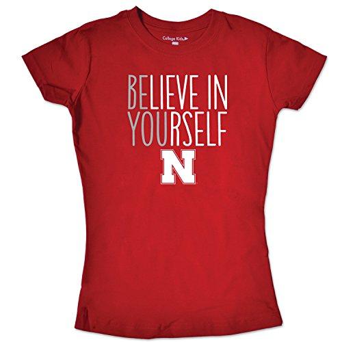 NCAA Nebraska Cornhuskers Girls Short Sleeve Tee, Size 8-10 /Small, Red ()