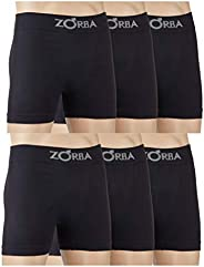 Zorba Kit 6 Cuecas Boxer sem Costura Masculino