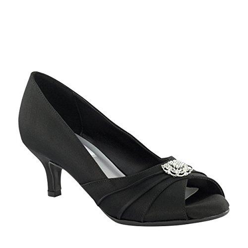 Dyeables Women's Kristin Dress Pump, Black, 9.5 W (Dyeable Dress Shoes)