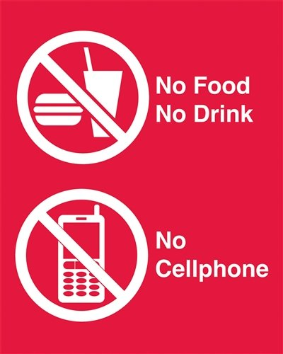 Signs - Food, Drink, Cellphone