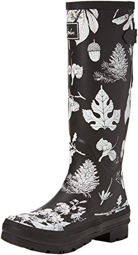 Botas Negro de para Botanical Black Mujer Etched Bletbot Joules Welly Print Agua Fq6tn0ET