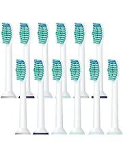 12 Stk Ersatzbürsten Aufsteckbürsten für Philips Sonicare Kompatibel mit Diamond Clean, FlexCare,EasyClean,HealthyWhite,HydroClean,ZahnbürstenköpfeTiefen-reinigung Zahnbürstenaufsätze