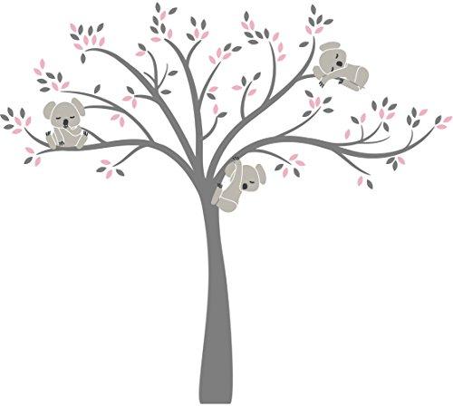 (LittleLion Studio 148057074429751073000000 Modern Koala Cuteness Wall Decal Medium Light Pink/Warm Gray/Charcoal)