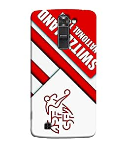 ColorKing Football Switzerland 11 White shell case cover for LG K10