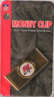 Tampa Bay Buccaneers Gold Plated Money Clip