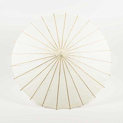PaperLanternStore.com 28″ Beige / Ivory Paper Parasol Umbrella