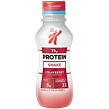 Kellogg's Special K Protein Shakes, Strawberry, 10 Ounce Ready to Drink Bottles (Pack of 12)