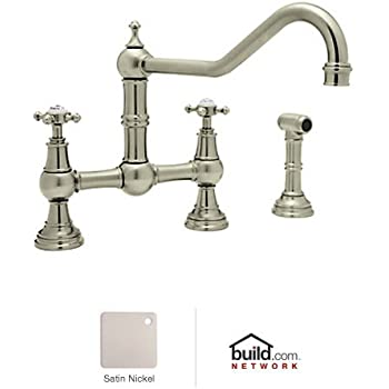 Rohl U.4764L-STN-2 Perrin and Rowe Bridge Kitchen Faucet