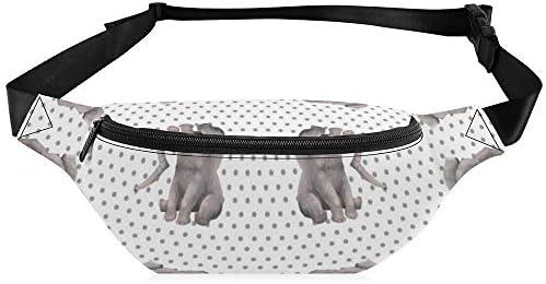 水玉模様の象 ウエストバッグ ショルダーバッグチェストバッグ ヒップバッグ 多機能 防水 軽量 スポーツアウトドアクロスボディバッグユニセックスピクニック小旅行