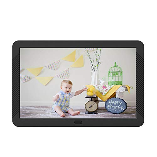 Atatat 8 Inch Digital Photo Frame with IPSScreen, 1920x1080 Digital Picture Frame with Remote Control,Calendar, Slideshow Mode, Support 1080P Video, USB and SD Card Slots, Background Music