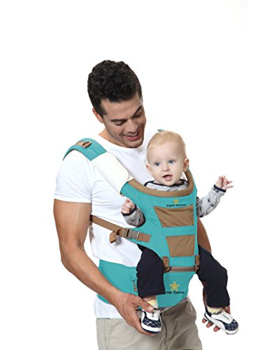 Brighter Elements Top Baby Carrier with Hip Seat, Excellent Design & Ergonomic Style, Great Quality & 5 Convertible Positions, Perfect for Carrying Infant & Toddler, Best Baby Shower Gift!