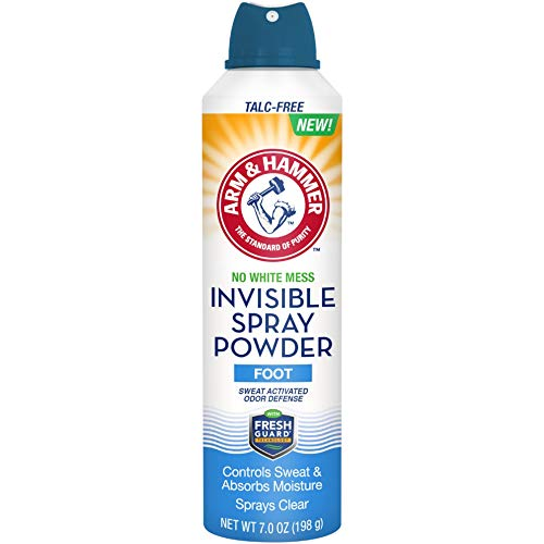 Arm & Hammer No White Mess Invisible Spray Foot Powder, 7 Ounces