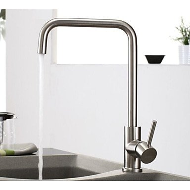 Deck Mounted Single Handle One Hole with Nickel Brushed Kitchen faucet Other Regions/Countries by Zheng
