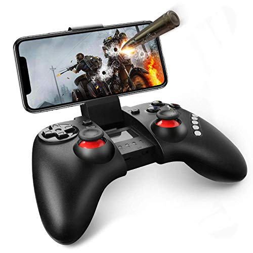 Mobile Game Controller, Gintenco Wireless Game Controller for iPhone/Andriod/Win 7/8/10 Systems/TV Box/PS3, Rechargeable Bluetooth Game Pad Joystick Controller & Remote Gamepad (Ps3 System Games)