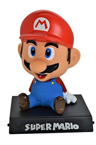 Super Mario PVC Bobble Head Figure Car Office Home Accessories Ultra Detail Doll . Limited Edition.