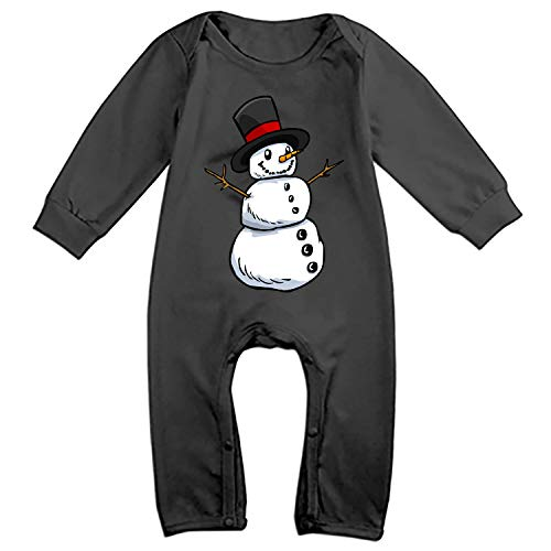 Clipart Snowman - Baby Snowman Clip Art Bodysuits Rompers Outfits Casual Clothes,Long Sleeve
