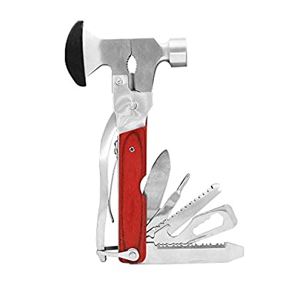 Emergency Escape Hammer Portable Stainless Steel Multitool Multipurpose Tool Multifunctional Knife Axe with Hammer Plier