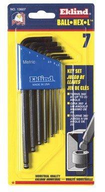 Eklind 13607 Metric 7pc Ball Hex Key Set 1.5mm to 6mm - Long ()