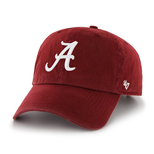 NCAA Alabama Crimson Tide Men's Clean Up Cap, Razor Red 1, One ()