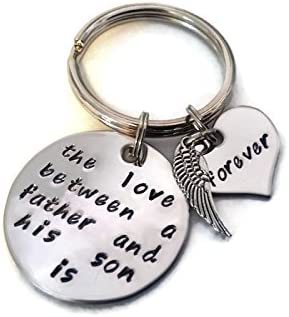 Moonstone Creations Sympathy Father and Son Key Chain The Love Between a Father and His Son Is Forever