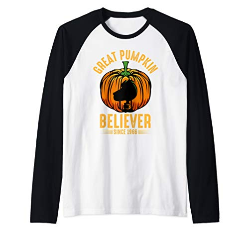Great Pumpkin Believer Funny Scary Halloween Quotes Raglan Baseball Tee