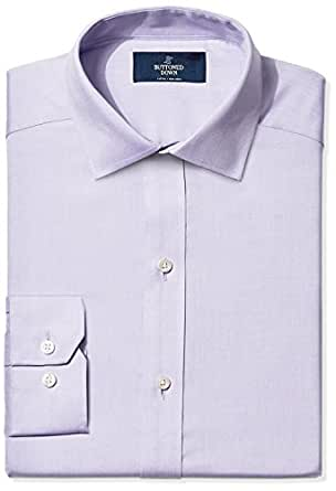 buttoned down men 39 s fitted spread collar solid