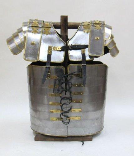 Roman Segmentata Lorica Breastplate Steel w/ Brass Trim: Armour Wearable Costume
