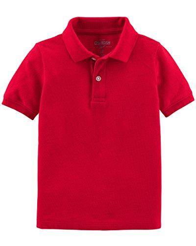 Osh Kosh Boys' Short Sleeve Uniform Polo, Red,