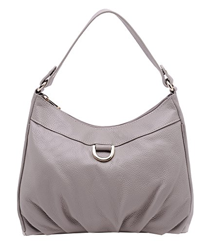 Purse Bag and with Long Handbags Shoulder Leather Top Bags Grey Heshe Women Handle Strap Satchel vHwF0A