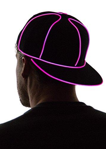 Neon Nightlife Light Up Snapback Hat, (Mens Rave Wear)