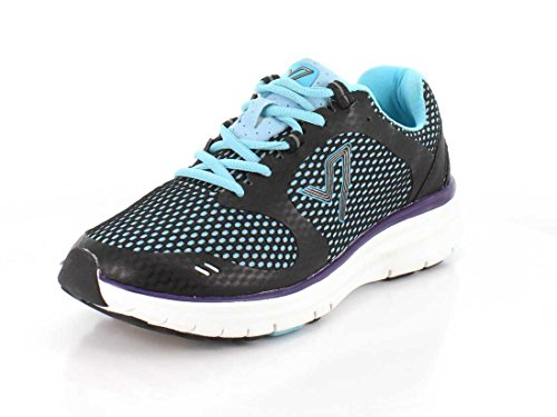 Womens Vionic Elation Textile 1 Black Teal Trainers BWZ4qn6W