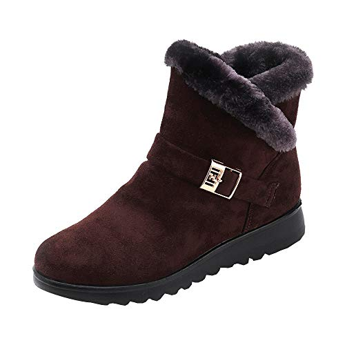 High Plus Velvet Fashion Coffee Ankle NEEDRA Snow Flat Wedge Women's top Winter Boots Boots nSBwqxR0p
