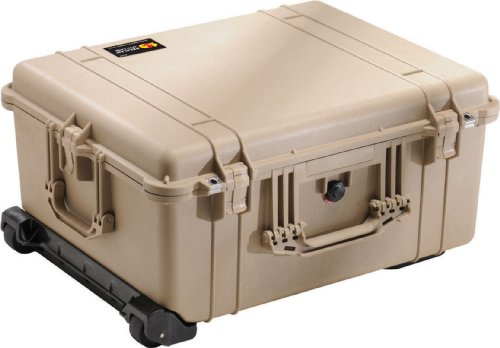 Pelican 1610 Camera Case With Foam (Desert Tan) - 1610 Protector Case