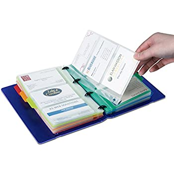 amazon com rolodex vinyl business card book with a z tabs holds
