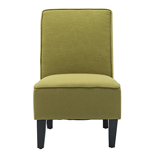 Changjie Cushioned linen Armless Settee Loveseat Sofa Couch Home Casual Living Room Sleeper (One Seat Green) by Changjie