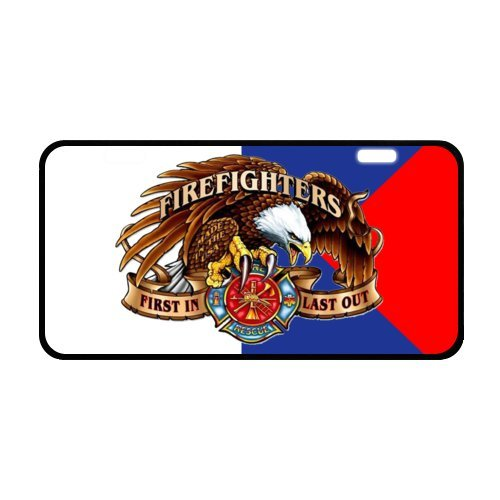 """Eagle Dive Flag License Plate with Cheap Sale-11.8"""" X 6.1"""" inches-Black Trim"""