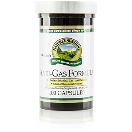 Naturessunshine Anti-Gas Form. w/Lobelia Supports Digestive System 100 Capsules (Pack of 2)
