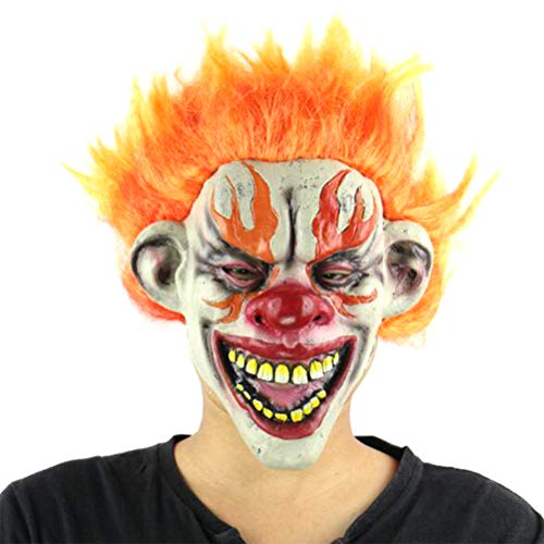 Halloween Demon Scary Clown Cosplay Horrific Props Devil Flame Zombie Mask