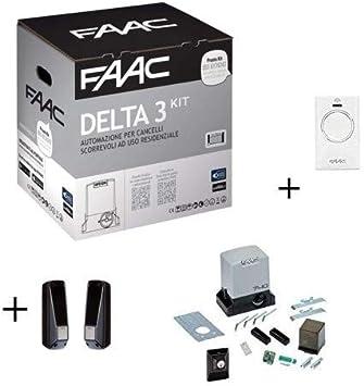 Faac Promo Delta 3 - Kit de automatización para puertas correderas ...