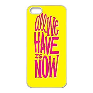 Bible N Skull Graffiti Quote IPhone 5,5S Case all We Have is Now for Boys, Luxury Case for Iphone 5s, {White}